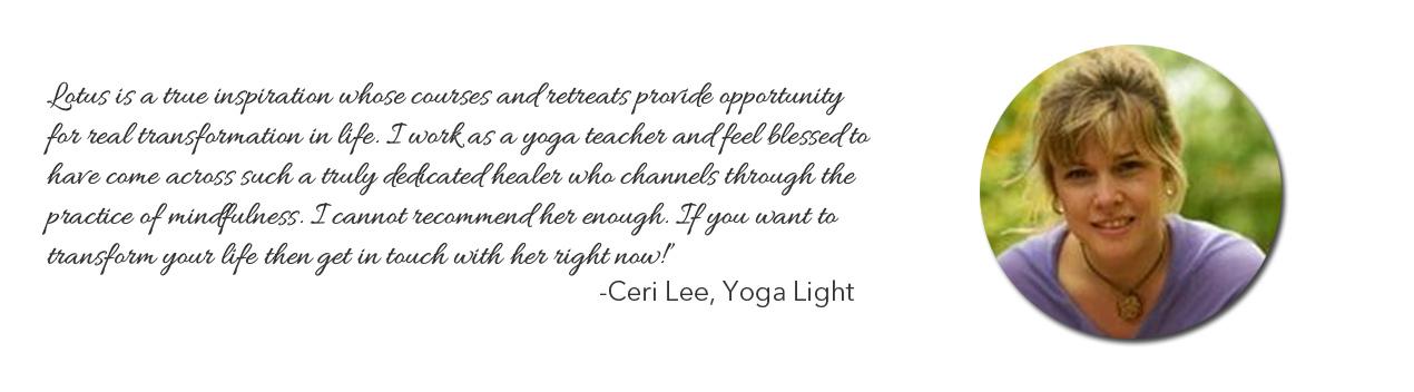 Praise for Lotus Nguyen, Mindfulness Teacher, Mentor & Coach
